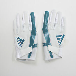 No Current Team adidas  Gloves - Receiver Men's White/Teal New with Tags