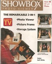 "SHOWBOX Photo Viewer For 3 1/2"" x 5"" PHOTOS (Soft White)"