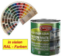 Owatrol Solid Color Wetterschutzfarbe Deckfarbe 1 Liter - RAL / NCS / Sikkens