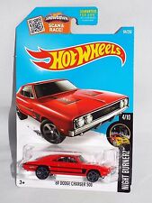 Hot Wheels 2016 Night Burnerz Series #84 '69 Dodge Charger 500 Red w/ Mc5s
