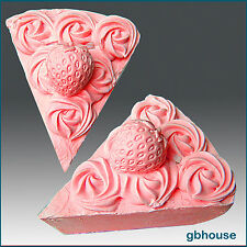 2D Silicone Soap and Candle Mold – Strawberry Pie Slice