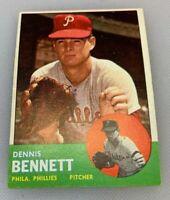 1963 Topps # 56 Dennis Bennett Baseball Card Philadelphia Phillies