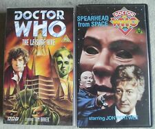 2 x Vintage Doctor Who video VHS Pal - Spearhead from Space & Leisure Hive