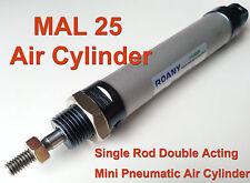 Mi 12mm X 25mm de una sola biela de doble acción Mini Neumático Cilindro de aire MI12x25