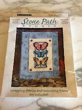 Counted Cross Butterfly Stitch Stone Path Studio New Dimensions Kit