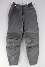 CLASSIC IXS BLACK LEATHER BIKER TROUSERS: WAIST 30 INCHES/INSIDE LEG 28 INCHES