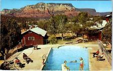 SEDONA, Arizona  AZ  Roadside  SEDONA LODGE Swimming Pool  c1960s-70s  Postcard