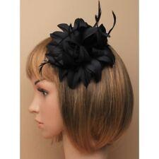 Negro Flor de Tela Pinza de Pelo Accesorios, Tocado