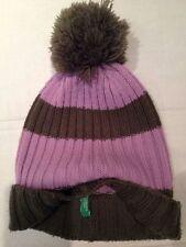 United colors of Benetton - cappello da bambina marrone e viola - usato 47aaba1dbd87