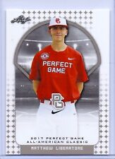 """MATTHEW LIBERATORE 2017 """"1ST EVER PRINTED"""" LEAF PERFECT GAME ROOKIE CARD #27!"""