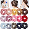 1PC Women Silky Satin Solid Elastic Hair Rope Hair Bands Scrunchies Ponytail Tie