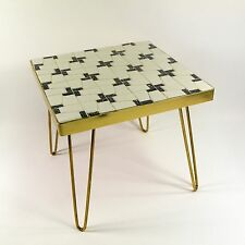Beistelltisch Nierentisch 50er Tisch 50er Hocker Messing Mosaik Blumenbank 1937