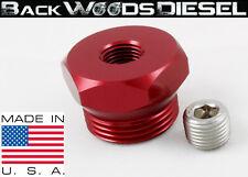 99-03 F-250/350 7.3L Powerstroke Billet Aluminum Air Intake Heater Delete Red