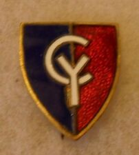 WWII 38TH INFANTRY DIVISION PATCH TYPE DI NO HALLMARK PIN BACK