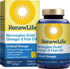 Renew Life Norwegian Gold Critical Omega - 120 Softgels   Heart & Cholesterol