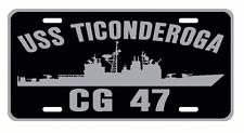 USS TICONDEROGA CG 47 License Plate Military Signs USN 001