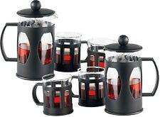 Großes Kaffeebereiter Teebereiter Set mit 4 Tassen Kaffeetassen Kaffeedrücker