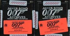 James Bond Archives 2015 Empty Archive Box Set Of 3 (No Cards)