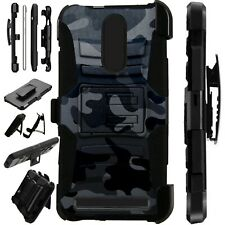 Luxguard For MicroMax T55 Phone Case Holster Stand Cover   BLACK CAMO