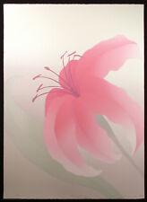 """Nancy Denison """"Rapture"""" Hand Signed Serigraph Fine Art, 1980, lily, floral, OBO"""