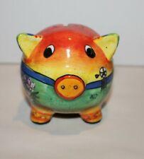 Painted Ceramic Texas Piggy Bank