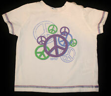 T-Shirt Shirt in weiß mit hellen bunten Paece Motiven für Jungs, Babys Größe 68