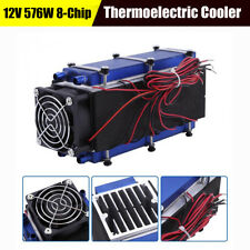 576W 8-Chip Thermoelectric Peltier Refrigeration Air Cooling System Single fan
