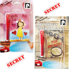 Secret Diary Girls Boys Magic Invisible Writing Pen & Book UV Torch Illuminate