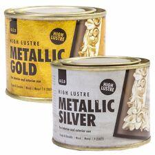 180ml SILVER / GOLD METALLIC PAINT Metal Wood Concrete Furniture Mirror Craft