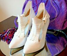 Vintage 80's White Leather Heels