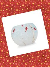 Yankee Candle 2019 BLUE SKY CARDINAL Round Votive Holder Christmas Winter Small