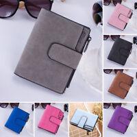 Women Girls Wallet PU Leather Wallet Card Holder Zip Coin Purse Clutch Handbag