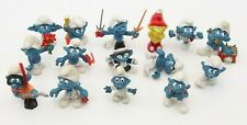 Vintage LOT of 15 Smurf Toy Figures Peyo Schlech Empire 1970's 1980's