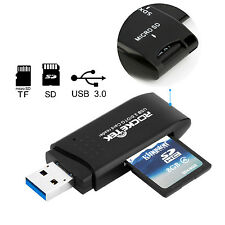 Micro USB OTG to USB 3.0 Adapter, Rocketek SD/Micro SD Card Reader with Standard
