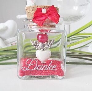 Liebes Herz Schutzengel im Glas ,Gastgeschenk,Taufe,Hochzeit ,Kommunion ,Geburt