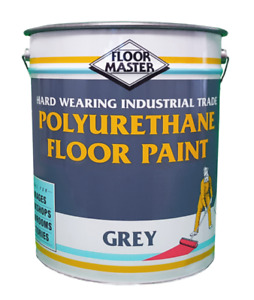 GREY SHOWROOM - GARAGE FLOOR PAINT LARGE 5LTR TIN - FREE DELIVERY (GREY)