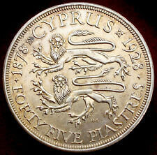 More details for cyprus 45 piastres 1928 (h2708)