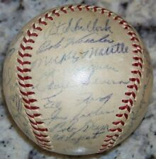 1954 Yankees Mickey Mantle Yogi Berra Ford Signed Baseball Ball JSA LOA 30 Autos