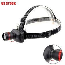 1000 Lumen LED Headlamp Zoomable Flashlight Portable Headlight US Stock GA