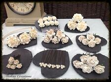 IVORY ROSE FLOWER WEDDING HAIR ACCESSORIES*Alice Head band*Comb*Pins*Grips*Bride