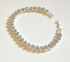 Bracelet for Women Dazzing Crystal in 925 Sterling Silver Brand New Great Gift!