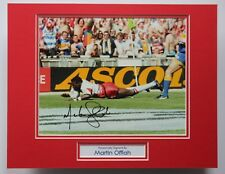 More details for martin offiah wigan & england rugby hand signed autograph photo mount coa