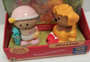 NEW Play Town Learning Curve Wood Olivia & Raggs Wooden Toys Figure COLLECTION
