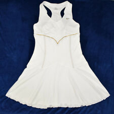 Nike Maria Sharapova Tennis Medium Dress Dri Fit White Gold Trim