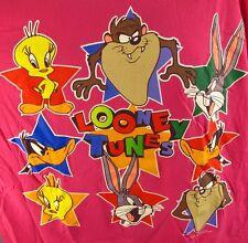 Vintage Looney Tunes T-Shirt 24W Pink 2XL-3XL Women's Tee 1994 Taz Tweety Bugs