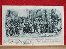 Fotokarte - gel. 1898 - Höritzer Passionsspiele - Hořice na Šumavě - Ensemble