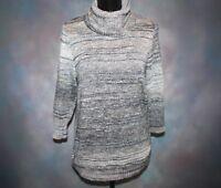 Christopher & Banks Women's Sz Medium Gray 3/4 Sleeve Turtleneck Sweater EUC!