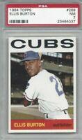 1964 Topps baseball card #269 Ellis Burton, Chicago Cubs graded PSA 7