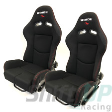 BRIDE GIAS V1 BLACK LOW MAX Pair Reclining Mechanism RACING SEATS FRP