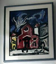 Gustavo Boldrini - olio materico - anni '70